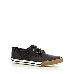 bluezoo - Boy's grey herringbone side lace up shoes