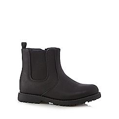 bluezoo - Boy's black side zip chelsea boots