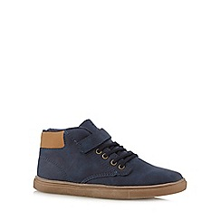bluezoo - Boy's navy lace up rip tape shoes