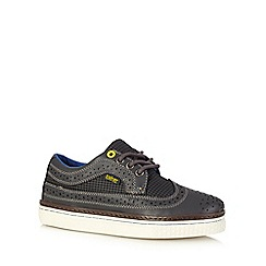 Baker by Ted Baker - Boys' grey dogtooth brogue trainers