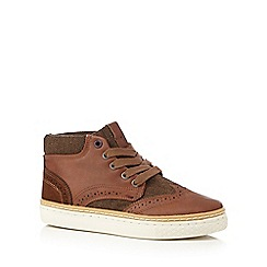 Baker by Ted Baker - Boys' tan leather brogue-inspired boots