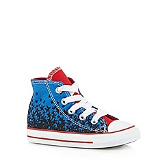Converse - Boy's bright blue star print hi-top trainers