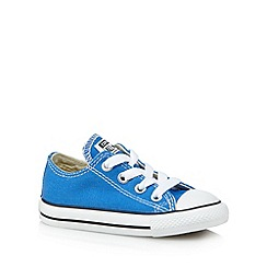 Converse - Babies bright blue 'All Star' laced trainers