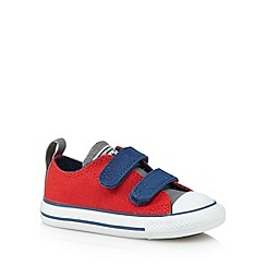 Converse - Babies red 'All Star' two tab trainers