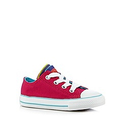 Converse - Babies bright pink party 'All Star' laced trainers