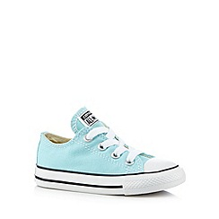 Converse - Babies aqua 'All Star' laced trainers