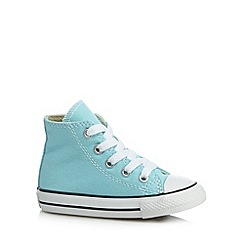 Converse - Babies aqua canvas hi-top trainers