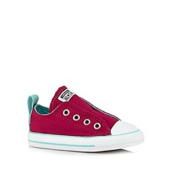 Converse - Girl's bright pink slip ons