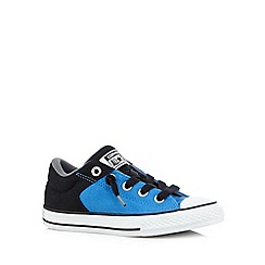 Converse - Boy's bright blue low top black laced trainers