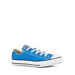 Converse - Boys bright blue low top trainers