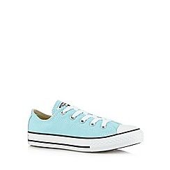 Converse - Girl's aqua low top trainers