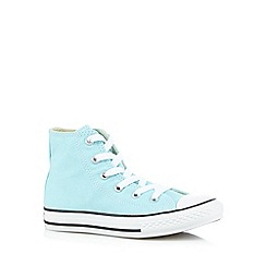 Converse - Girl's aqua hi-top trainers