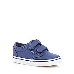 Vans - Boy's blue two tab rip tape shoes