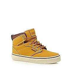 Vans - Boy's tan high top shoes