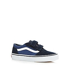 Vans - Boys' navy suede two tab trainers