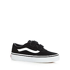 Vans - Boys' black suede two tab trainers
