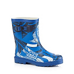 Animal - Boys' blue logo print wellington boots