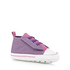 Converse - Babies purple 'All Star' slip on trainers