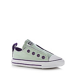 Converse - Boy's light green laceless 'All Star' trainers