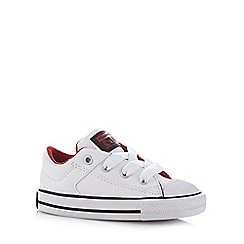 Converse - Boy's white 'All Star' leather trainers
