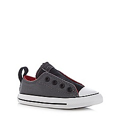 Converse - Boy's dark grey laceless 'All Star' trainers
