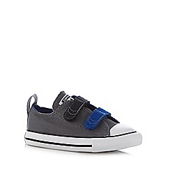 Converse - Boy's dark grey two tab 'All Star' trainers