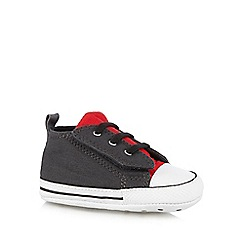 Converse - Babies dark grey 'All Star' slip on trainers