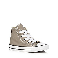 Converse - Grey canvas trainers