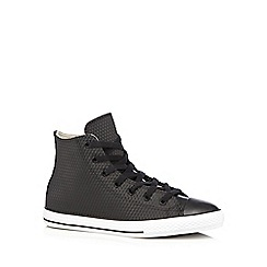 Converse - Boy's black 'All Star' rubber diamond hi-top trainers