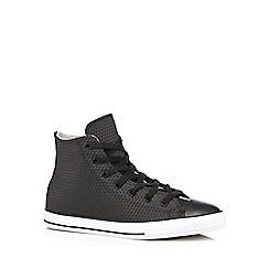 Converse - Boy's black 'All Star' rubber diamond hi-top trainers
