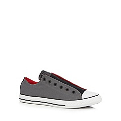 Converse - Boy's grey laceless trainers