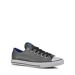 Converse - Boy's grey 'All Star' leather trainers