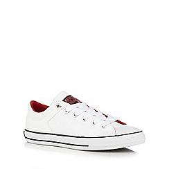 Converse - Boy's white 'High Street' leather trainers