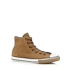 Converse - Boys' light brown 'All Star' suede hi-top trainers