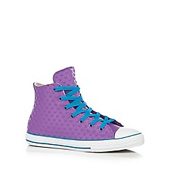 Converse - Girl's purple 'All Star' rubber star hi-top trainers