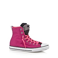 Converse - Girl's purple hi-top 'party' slip on trainers