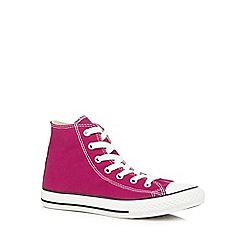Converse - Girl's bright pink 'All Star' hi-top trainers