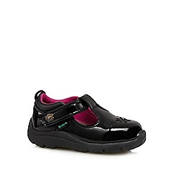 Kickers - Girl's black floral patent shoes