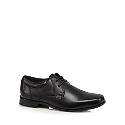 Kickers - Boy's black leather square toe shoes