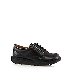 Kickers - Boys' black leather arch support shoes
