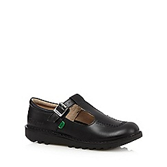 Kickers - Girl's black leather buckle shoes
