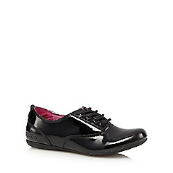 Kickers - Girl's black leather 'Micro-Fresh' patent shoes