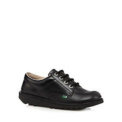 Kickers - Boy's black leather lace up shoes