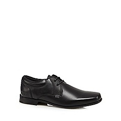 Kickers - Boy's black leather 'Micro-Fresh' lace up shoes