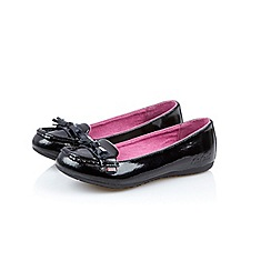 Kickers - Girls  black patent leather  Verda  pumps