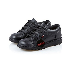 Kickers - Boys  black leather  Lotoe  shoes