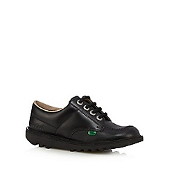 Kickers - Girls' black leather 'Micro-Fresh' lace up shoes