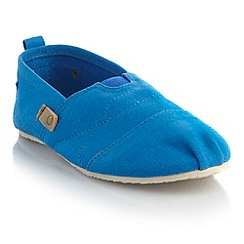 bluezoo - Boy's bright blue canvas espadrilles