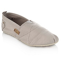 bluezoo - Boy's grey slip on canvas shoes