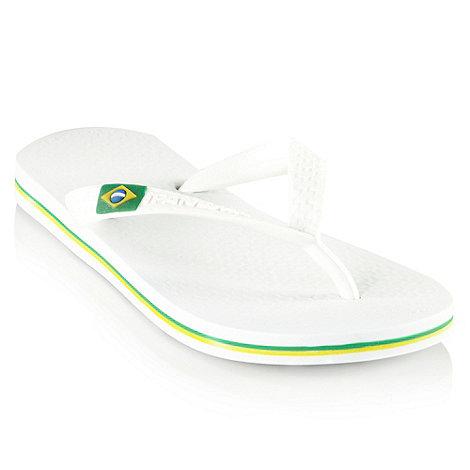Ipanema - Girl+s white thong strap flip flops
